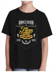 Tricou ADLER copil Titan Negru