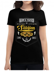 Tricou ADLER dama Salajan Negru