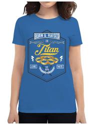 Tricou ADLER dama Titan Albastru azuriu