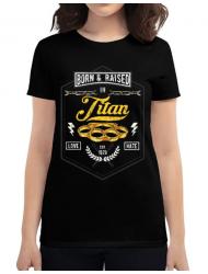 Tricou ADLER dama Titan Negru