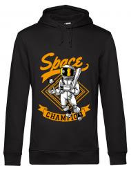 Hoodie barbat cu gluga Space champion Negru