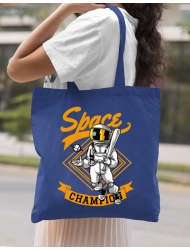 Sacosa din panza Space champion Albastru regal