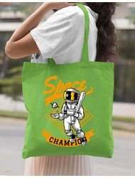 Sacosa din panza Space champion Verde mar