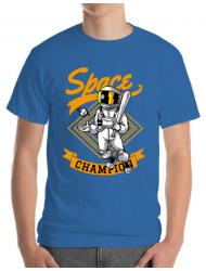 Tricou ADLER barbat Space champion Albastru azuriu