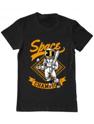 Tricou ADLER barbat Space champion Negru