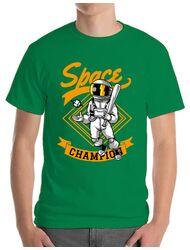 Tricou ADLER barbat Space champion Verde mediu