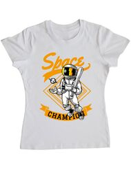 Tricou ADLER dama Space champion Alb