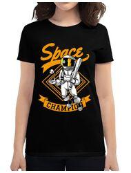Tricou ADLER dama Space champion Negru