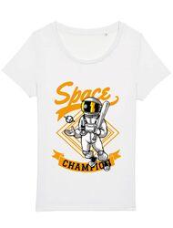 Tricou STANLEY STELLA dama Space champion Alb