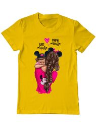 Tricou ADLER barbat Mama and baby Mouse Galben