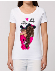Tricou STANLEY STELLA dama Mama and baby Mouse Alb