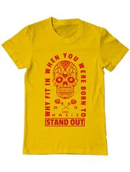 Tricou ADLER barbat Born to stand out Galben