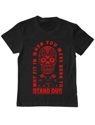 Tricou ADLER copil Born to stand out Negru