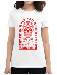 Tricou ADLER dama Born to stand out Alb