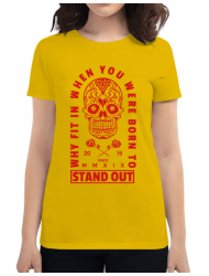 Tricou ADLER dama Born to stand out Galben