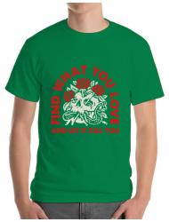 Tricou ADLER barbat Find what you love Verde mediu