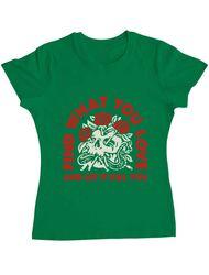 Tricou ADLER dama Find what you love Verde mediu