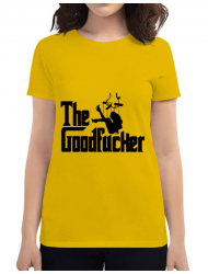 Tricou ADLER dama The goodfucker Galben