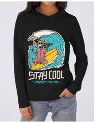 Hoodie dama cu gluga stay cool Negru
