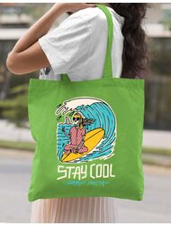 Sacosa din panza stay cool Verde mar