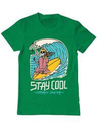 Tricou ADLER barbat stay cool Verde mediu