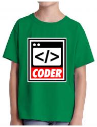 Tricou ADLER copil Coder Verde mediu