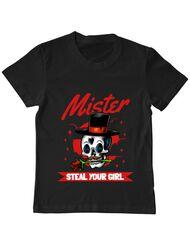 Tricou ADLER copil Mr. steal your girl Negru