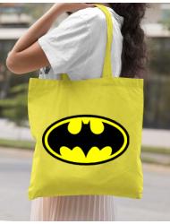 Sacosa din panza Batman Galben