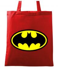 Sacosa din panza Batman Rosu