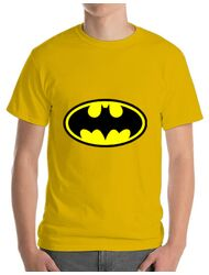 Tricou ADLER barbat Batman Galben