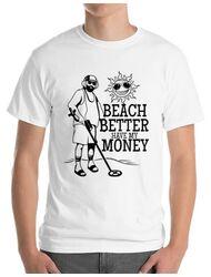 Tricou ADLER barbat Beach better have my money Alb