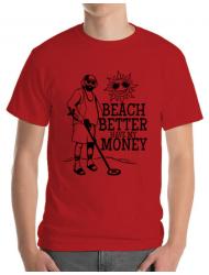 Tricou ADLER barbat Beach better have my money Rosu