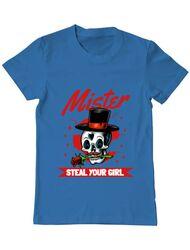 Tricou ADLER barbat Mr. steal your girl Albastru azuriu