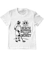 Tricou ADLER copil Beach better have my money Alb