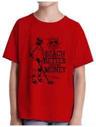 Tricou ADLER copil Beach better have my money Rosu