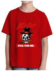 Tricou ADLER copil Mr. steal your girl Rosu
