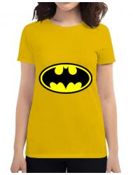 Tricou ADLER dama Batman Galben