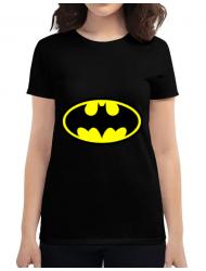 Tricou ADLER dama Batman Negru
