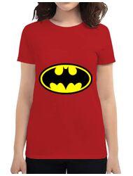 Tricou ADLER dama Batman Rosu