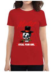 Tricou ADLER dama Mr. steal your girl Rosu