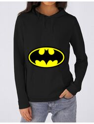 Hoodie dama cu gluga Batman Negru