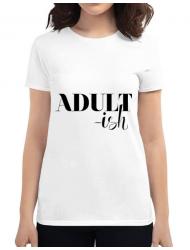 Tricou ADLER dama Adultish Alb
