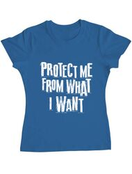 Tricou ADLER dama Protect me Albastru azuriu