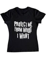 Tricou ADLER dama Protect me Negru