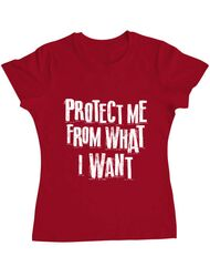 Tricou ADLER dama Protect me Rosu