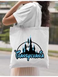 Sacosa din panza Transylvania Alb