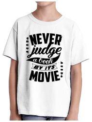 Tricou ADLER copil Never judge a book Alb