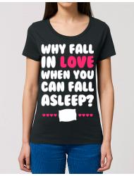 Tricou STANLEY STELLA dama Why fall in love Negru