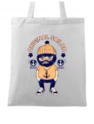 Sacosa din panza Original sailor Alb
