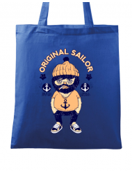 Sacosa din panza Original sailor Albastru regal